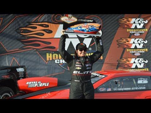 Erica Enders-Stevens wins the K&N Horsepower Challenge