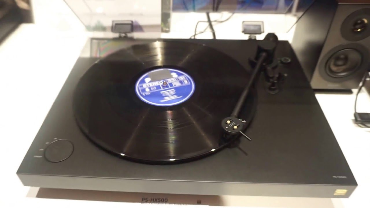 Sony PS- HX500 and STR-DN1070 turntable and amp AV