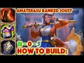 HOW TO BUILD AMATERASU - AMATERASU RANKED JOUST (SMITE GAMEPLAY)