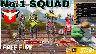 Free Fire live | Squad Ranked Game | Heroic Game Play [Hindi]