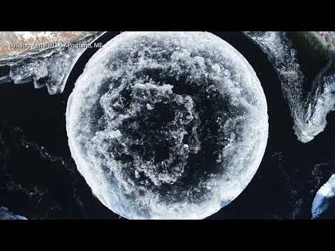 Chase Blog - Whoa, 'Alien' Disk of Ice Formed in Maine River!