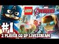 LEGO Marvel Avengers Part 1 2 Player Co Op Livestream