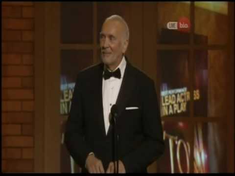 Tony Awards moment  with Frank Langella
