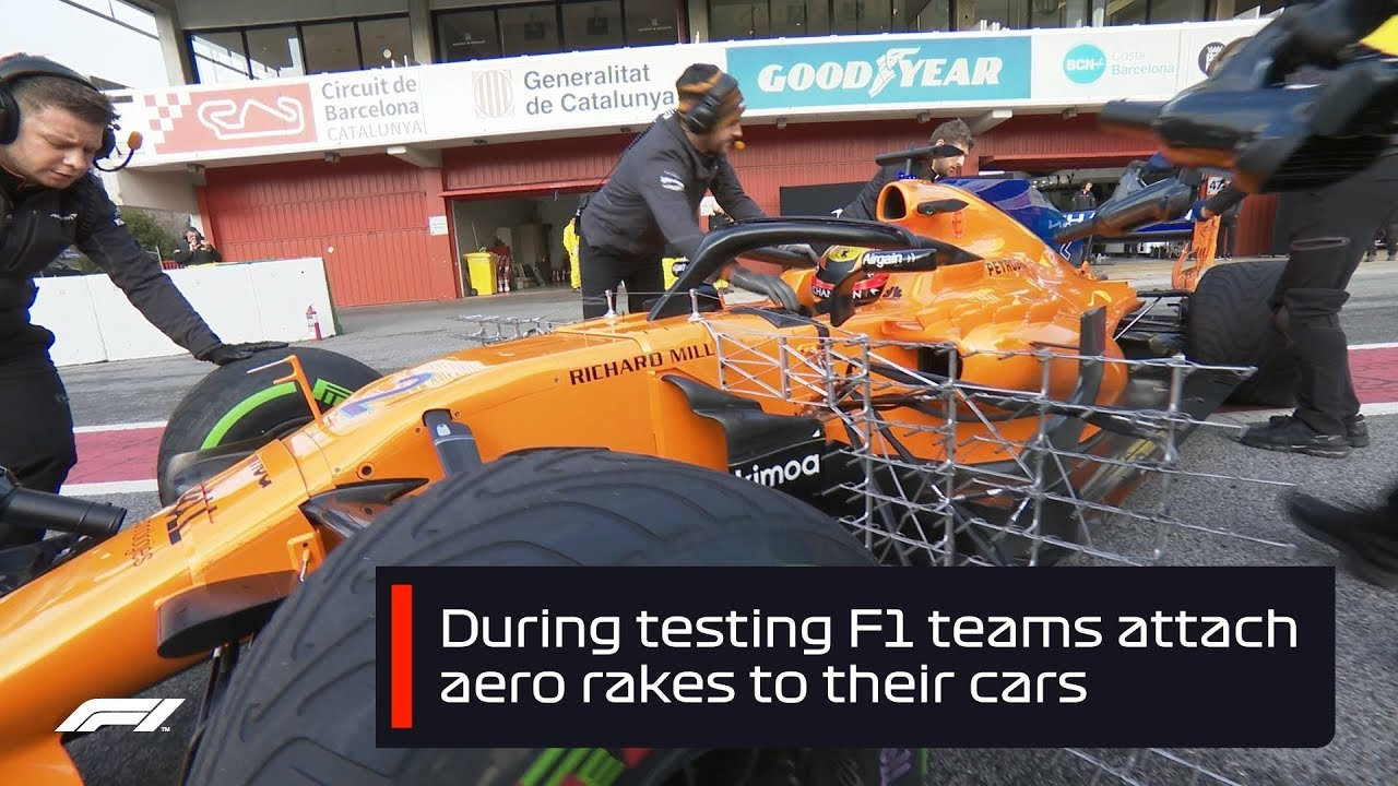 F1 Testing 2018 What Are Aero Rakes