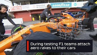 F1 Testing 2018: What Are Aero Rakes?