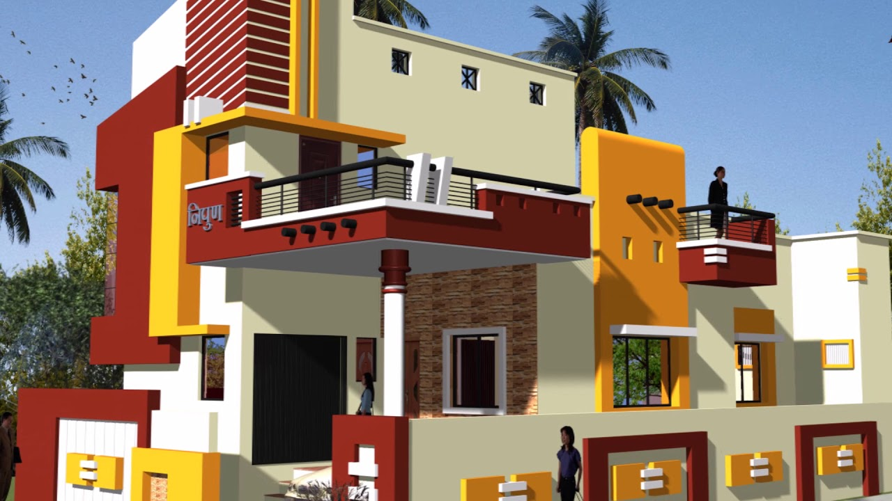 Indian house elevation color combinations best house design - Indian home exterior colour combinations ...