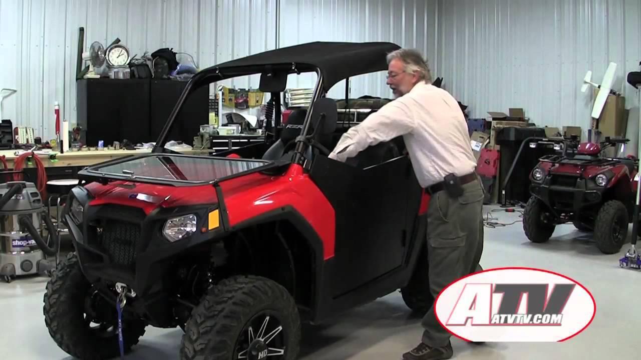 ATV Television - Installing Trail Armor Doors on Polaris RZR 570 - YouTube & ATV Television - Installing Trail Armor Doors on Polaris RZR 570 ...