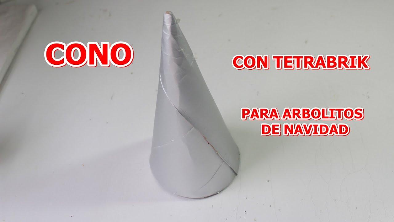 Como hacer un cono de tetrabrik para arbol de navidad for Como puedo hacer un cono