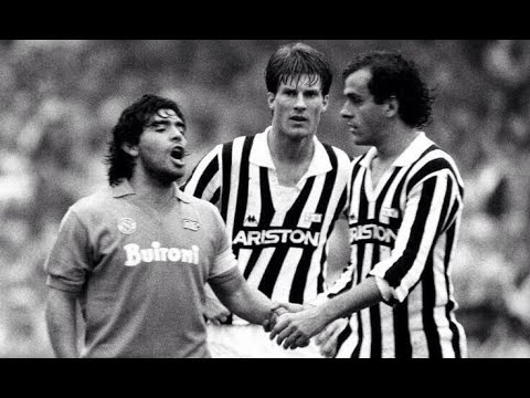 Diego Maradona Vs Juventus 1986 // Don DIEGO before the CUP-86
