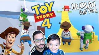 Toy Story 4 en El Mundo de Plastilina | Aventuras en Human Fall Flat | Juegos Karim Juega