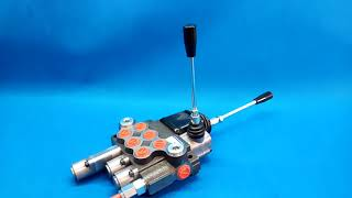 Hydraulic valve for levers 3 section 80l/min (21GPM) double acting with 1 swimming section and joystick video