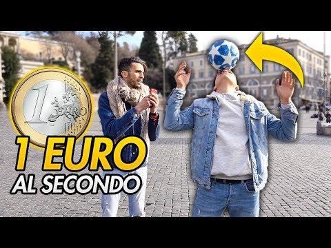 💶 REGALO 1 EURO per ogni SECONDO con il  PALLONE sulla TESTA! ⚽