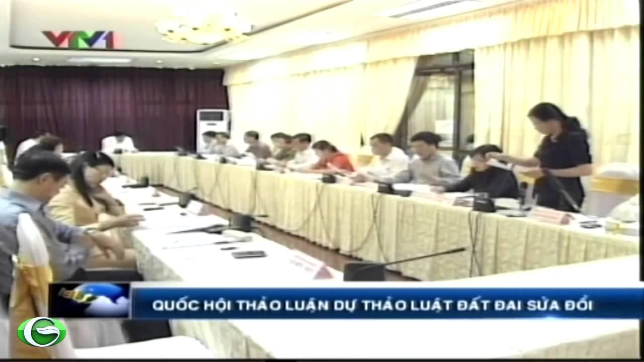 Quốc hội thảo luận dự thảo luật đất đai sửa đổi