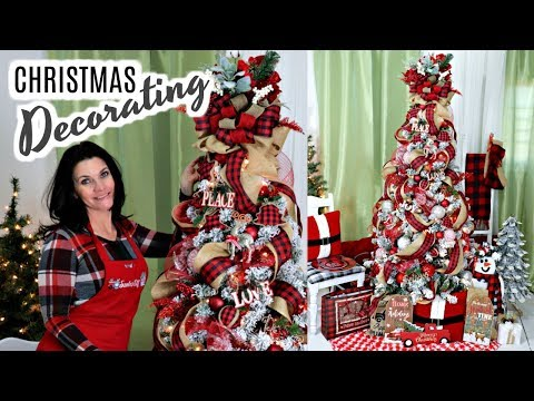 "🎄DIY DOLLAR TREE CHRISTMAS TREE DECORATING TUTORIAL🎄DOLLAR TREE DECOR 2019 ""I LOVE CHRISTMAS"" ep18"