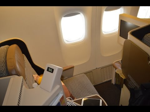 Etihad EY170 : Los Angeles to Abu Dhabi Business Class B777-200LR