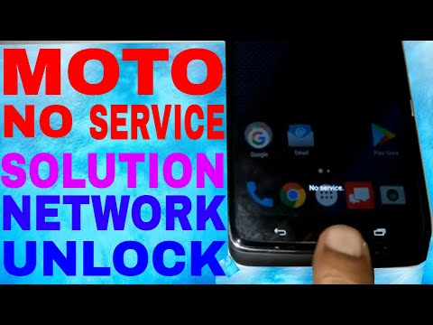 Moto No Service  Solution 2019 Net Work Problum