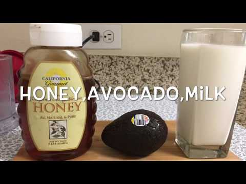 Quick and Healthy Avocado and honey drink
