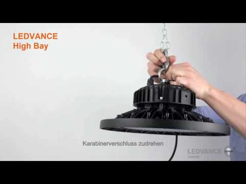 High Bay Lampen : Ledvance ledvance led highbay strahler w k bk watt