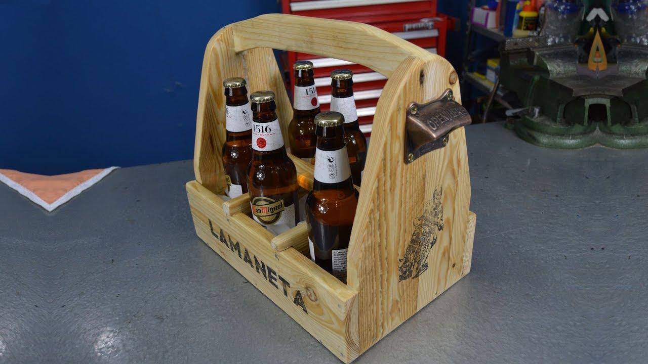 Caja de herramientas en madera para cerveza beer caddy - Herramientas de madera ...