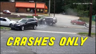 INSANE CAR CRASHES USA \u0026 Canada  | BEST OF Hit And Run, Accident, Road Rage, Bad Driver, Brake Check