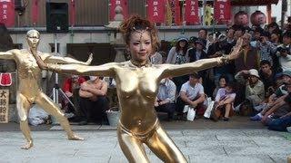Repeat youtube video 第33回大須大道町人祭「大駱駝艦」in大光院 金粉ショー