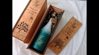 Оформление свадебного шампанского/декор свадебного шампанского