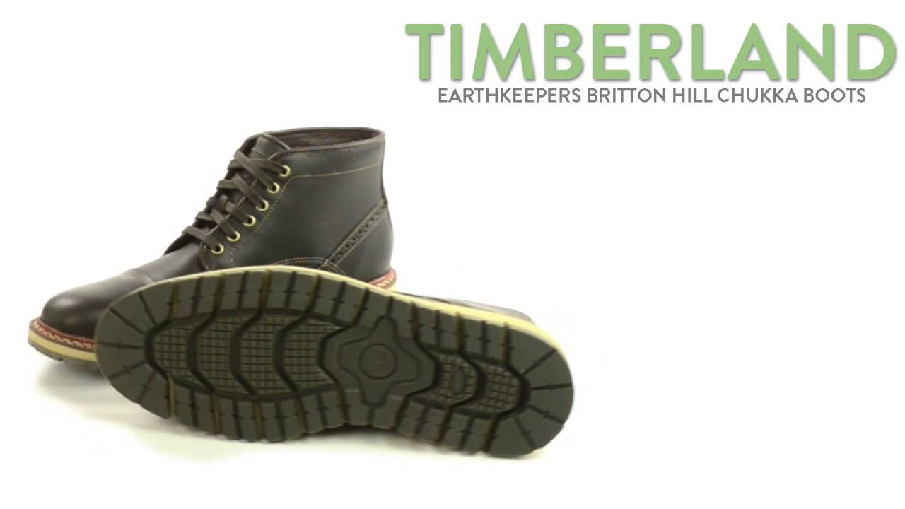 2c44c9854200 Timberland Earthkeepers Britton Hill Chukka Boots - Recycled Materials (For  Men) - YouTube