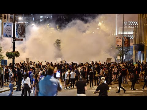 Tear Gas Deployed On Protestors During George Floyd Protest In Kansas City