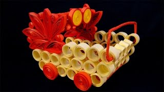 Paper Quilling Craft Tutorial # 10 - Learn Decorative Item Making @ jaipurthepinkcity.com