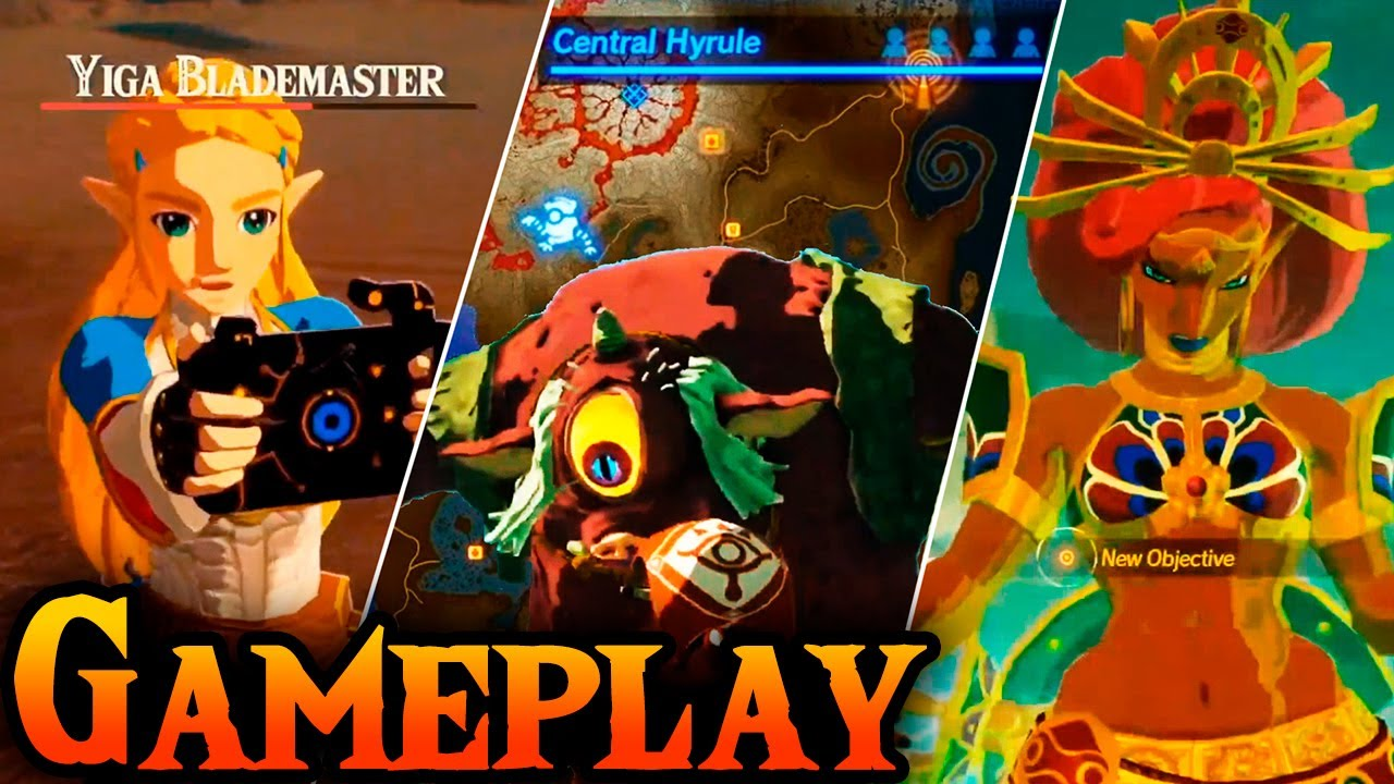 New Hyrule Warriors Age Of Calamity Gameplay Urbosa Zelda Map And Menus Youtube