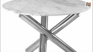 Victoria Dining Table Marble Gray/White HGTA345 by Nuevo