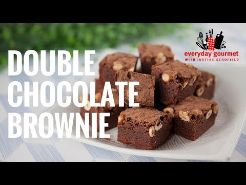 double-chocolate-brownies- -everyday-gourmet-s7-e82