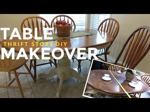 How To Refinish a Kitchen Dining Table: Vintage / Shabby Chic / Farmhouse Style!