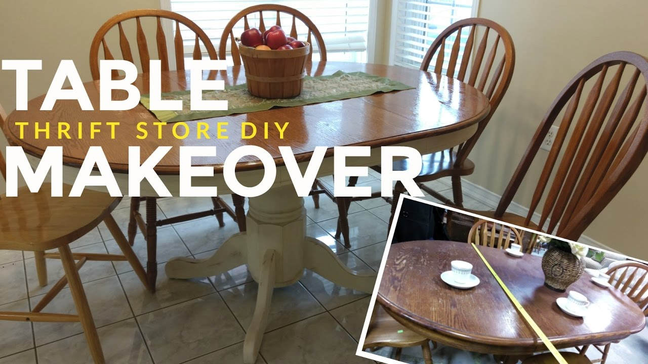 How To Refinish A Kitchen Dining Table Vintage Shabby Chic - Cream distressed dining table