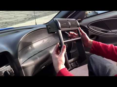 How To Remove The Radio, Radio Bezel, Shifter Bezel, And Shift Knob: Ford Mustang