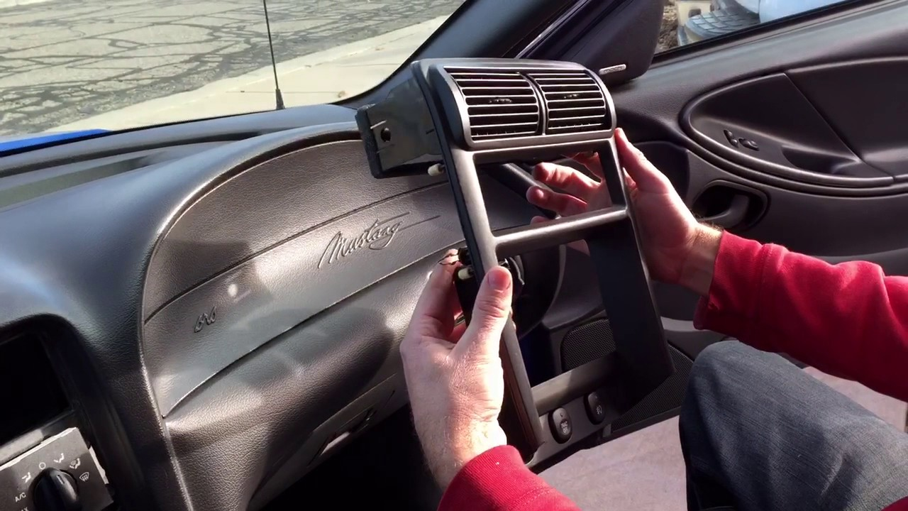 how to remove the radio radio bezel shifter bezel and shift knob ford mustang [ 1280 x 720 Pixel ]