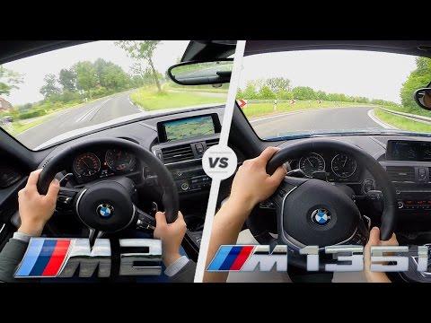 BMW M2 vs BMW M135i Xdrive 400 HP - Acceleration Top Speed POV Autobahn Test Drive & Sound