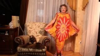 Платье балахон  без выкройки своими руками за 15 мин