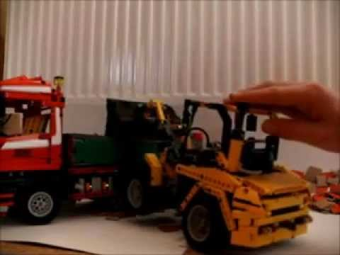 lego technic man 6x4 kipper mit volvo l30b pro youtube. Black Bedroom Furniture Sets. Home Design Ideas