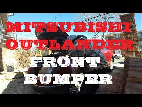 How to remove install front bumper Mitsubishi Outlander