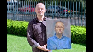Emil Nikolla on Sky Portrait Artist of the Year 2019