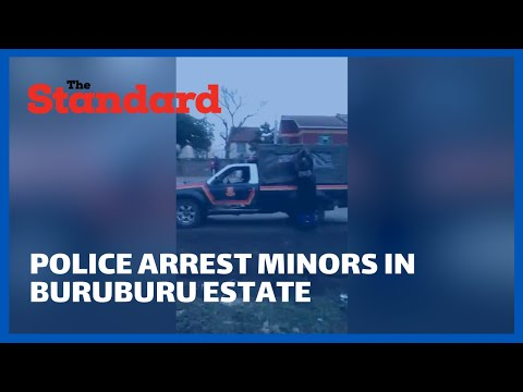Police arrest group of minors in Matunguru Court, Buruburu estate