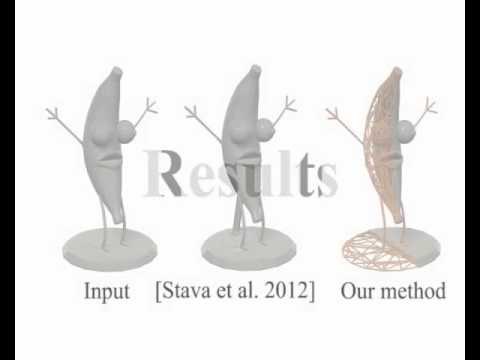 Cost-effective Printing of 3D Objects with Skin-Frame Structures