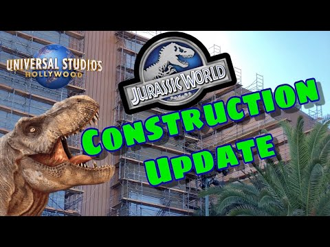 Jurassic World Ride Construction Update | Universal Studios Hollywood (2019)