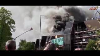 حريق ضخم في مستشفى مانتشيستر لعلاج السرطان   صحيفة الاتحاد