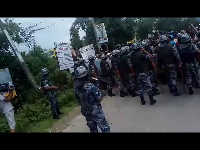 Kanchanpur: Police prevent protesters from entering DAO