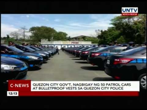 Quezon City gov't, nagbigay ng 50 patrol cars at bulletproof vests sa QC police