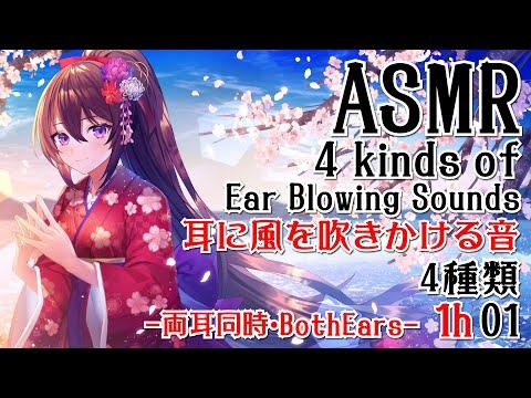【ASMR】耳に風を吹きかける音-4種類&両耳同時-01【声なし・No Talking】