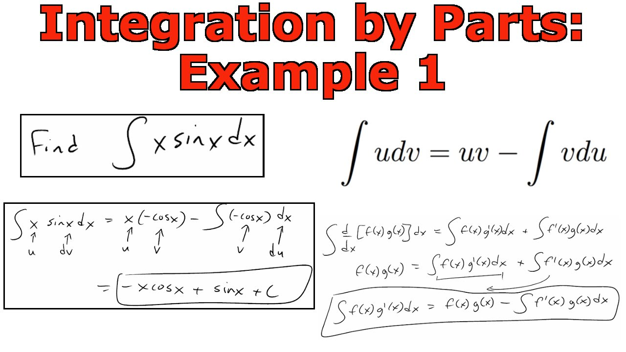 Integration By Parts Example 1 Youtube