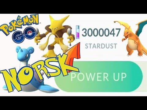 NORSK Pokémon GO LVL 40 - Power opp til max CP med 3 mill stardust! (Norwegian)